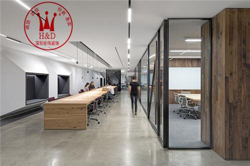 现代办公室装修设计案例-uber办公空间