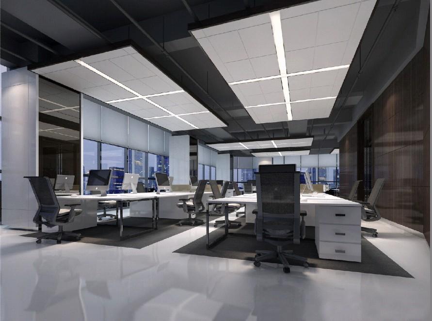 横岗时尚e城办公楼装修设计_宏伟建设工程股份有限公司
